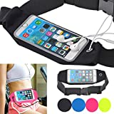 Cheap Running Belt Waist Pack,Flying Horse Waist Belt Bag With Zipper Fit iPhone 7/6/6S,Galaxy S5,S6,S7 S6 Edge,S4,S3,HTC One M8,M9 Waterproof Case (Black)