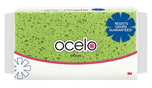 Commercial Cellulose Sponge - ocelo Large Sponge, Colors may vary, 1-Sponge/Pk, 6-Packs (6 Sponges Total)