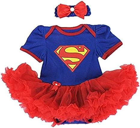 Supergirl, disfraz para bebé de 6 a 24 Meses, 6/9 Meses, 12 Meses ...
