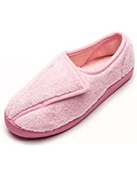Women Diabetic Slippers Arthritis Edema Memory Foam Closed Toed Slippers