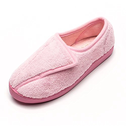 Git-up Women Diabetic Slippers Arthritis Edema Memory Foam Closed Toed Slippers, Pink, 11 D(M) US by Git-up