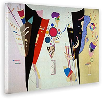 Giallobus - Cuadro - Impresion en Lienzo Kandinsky - Cuadro Abstracto ACCORDO RECIPROCO - Pinturas Modernas de lienzos - Varios formatos - 100 x 140 CM