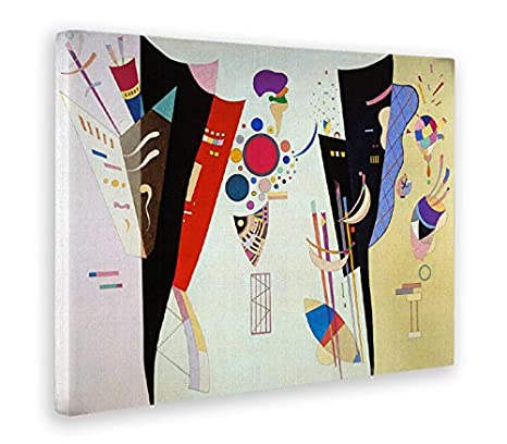 Stampa su Tela Canvas Kandinsky Quadri Moderni di Tela 50 x 70 CM Giallobus Vari Formati Quadro Quadro Astratto ACCORDO RECIPROCO