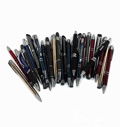 LOT OF 300 Wholesale Misprint Metal Retractable Pens (Assorted)