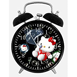 Hello Kitty Desk Alarm Clock 4 inches W06 Nice for Gifts or Decor