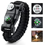 Paracord Bracelet,Survival Bracelet,Outdoors Survival With Compass Fire Starter And Whistle Emergency Survival Kit Easymoo Reviews