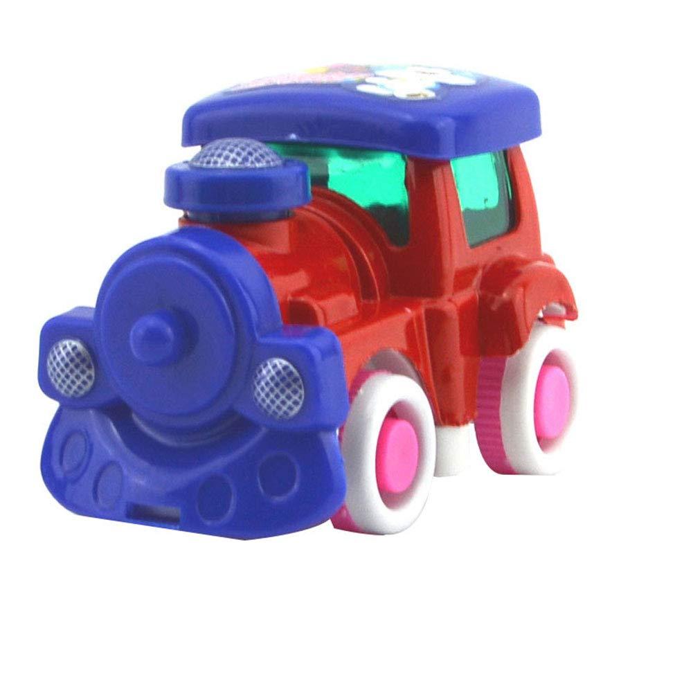Cdet. 1pc Jouet modèle Voiture pour Enfants Puzzle en Plastique Jeux Apprentissage pour Jouets Educatif Bambin Enfants et Création Usage Voiture d'inertie de Dessin animé Petit Avion