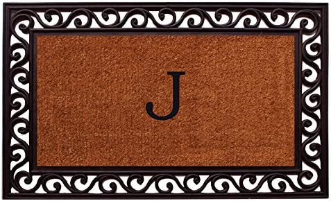 Home More 100061830J Rembrandt Monogram Doormat Letter J