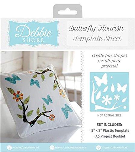 "Debbie Shore CORNER FLOURISH 8/""x8/"" Template Sheet Crafters Companion"