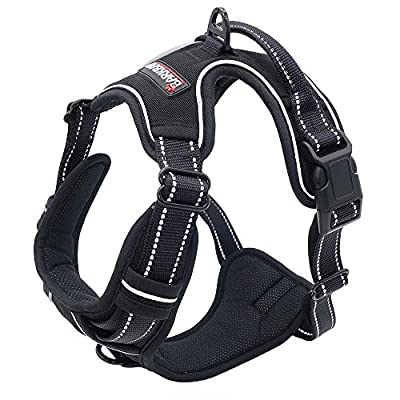 BARKBAY Front Range Dog Harness No-Pull Pet Harness Adjustable Outdoor Pet Vest 3M Reflective Oxford Material Vest for Dogs Easy Control for Small Medium Large Dogs