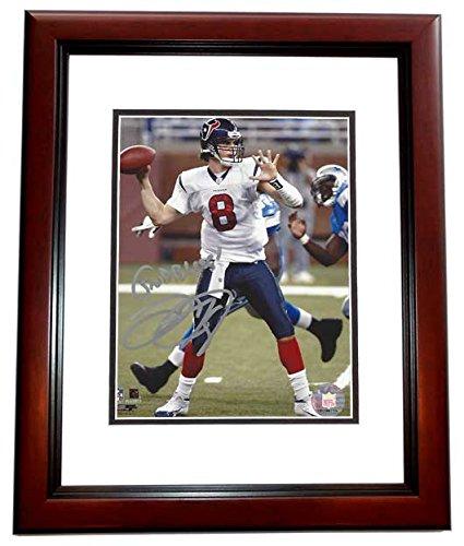David Carr Signed - Autographed Houston Texans 8x10 inch Photo MAHOGANY CUSTOM FRAME - #1 Overall Draft Pick