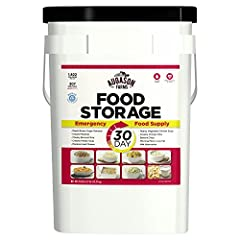 The Augason Farms 30-Day Emergency Food 7G Pail consists of delicious easy-to-prepare emergency food for 1 person for 30 days, or a family of 4 for one week—all packed in an easily transportable, watertight 7-gallon pail. The delicious meals ...