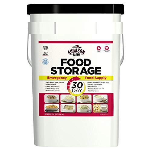- Augason Farms 30-Day Emergency Food Storage Supply 29 lb 4.37 oz 8.5 Gallon Pail