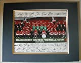 """MANCHESTER UNITED 2012 Full Team Signed 8""""x10"""" DOUBLE MATTED Photo Reprint. With FACSIMILE Autographs. Includes Sir Alex Ferguson. Ready for Framing!"""