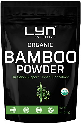 Pure Organic Bamboo Extract Powder, 8 Ounce, Supports Healthy Skin, Hair and Bones, Rich in Minerals, Non-GMO, Vegan ()