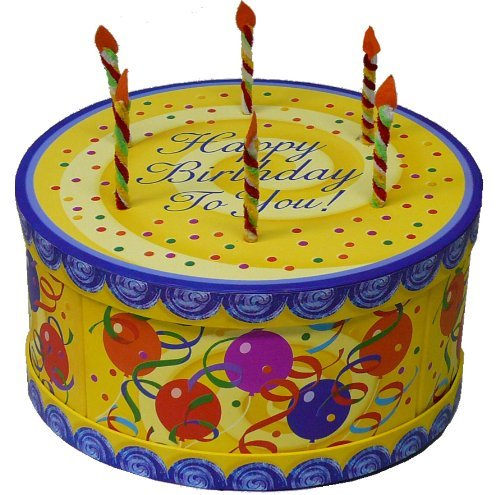 Happy Birthday To You Cake Shaped Gift Box (Empty Box with Lid Only)