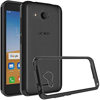 buy popular 49085 bdff9 Osophter Compatible with Alcatel Tetra Case,Osophter Premium Clear Back  Panel + TPU Bumper Case for Alcatel Tetra 2018 (Black)