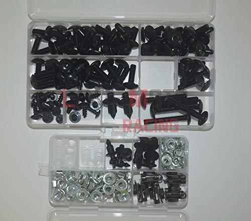 LoveMoto Full Motorcycle Fairing Bolt Screw Kit For Honda CBR 600 F4i 01 02 03 CBR600F4i 2001 2002 2003 New Body Screws Aluminum Fasteners Hardware Clips Black Silver