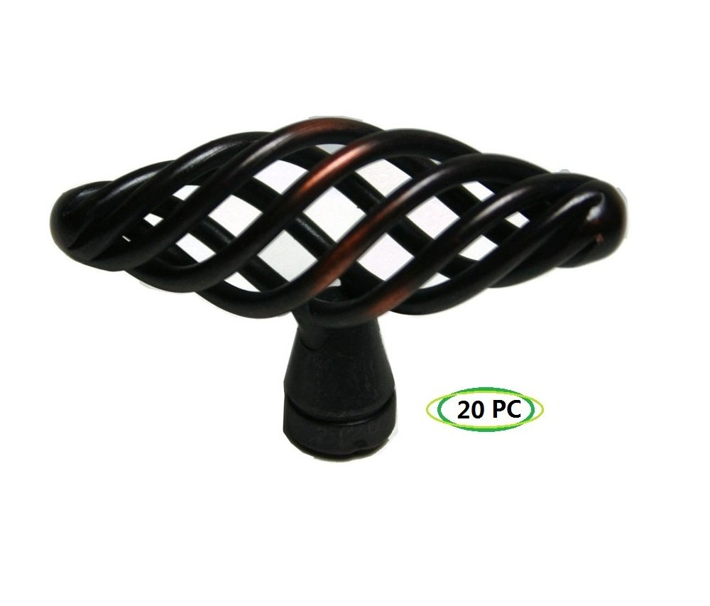 Pack of 20: 2243ORB Cabinet Birdcage Knob Oil Rubbed Bronze 2-3/8'' Long