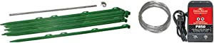 AgraTronix GS-50 Small Animal Electric Fence Kit - PW50 Fence Energizer, 10 Fence Posts, 210 ft. Fence Wire | Garden Fencing Equipment