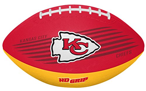 Rawlings NFL Kansas City Chiefs 07731071111NFL Downfield Football (All Team Options), Red, Youth