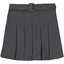 French Toast Girls' Pleated Scooter with Square Buckle Belt