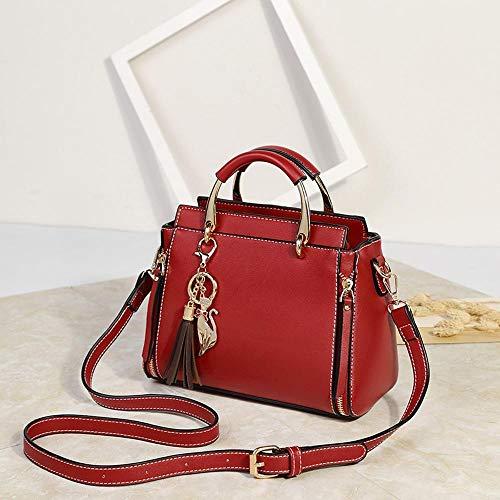 Maerye Europea e americana puro colore grande capacità singola spalla obliqua borsa borsa da donna C