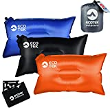 ECOTEK Outdoors Compact Inflatable Camp Travel Pillow + Bonus 11-in-1 Wallet Multitool Survival Card