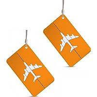 2X Aluminium Metal Travel Suitcase Luggage Tags Bag Baggage Name Address Holder Label