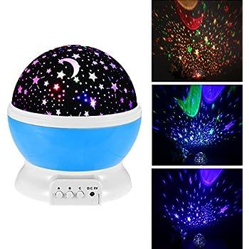 Amazon Com Baby Night Light Moon Star Projector 360
