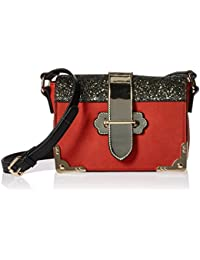 Women's Sequins Design Crossbody Shoulder Bag, Red, One Size