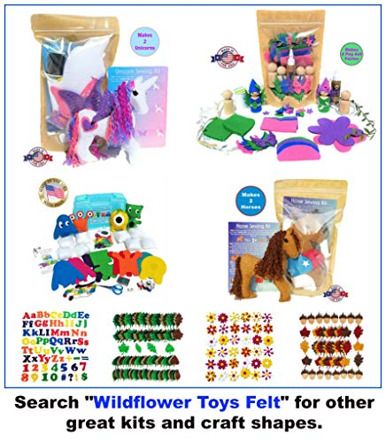 Wildflower Toys Horse Sewing Kit Kids - Felt Craft Kit Beginners ages 7+ - Makes 2 Felt Stuffed Horses by Wildflower Toys (Image #1)