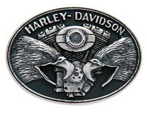 [Harley-Davidson Men's Belt Buckle, Screaming Eagle V-Twin, Silver HDMBU10712] (Harley Belt Buckles)