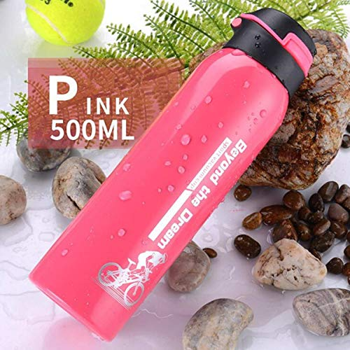 TOYECOTA - 500ML Vacuum Water Bottle Stainless Steel Kettle Insulate Thermals Cup Tea Infuser Water Bottle with Straw Drinkware Black Green
