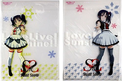 HMM ラブライブサンシャイン セレクトショップ 限定 クリアファイル Saint Snow 鹿角聖良、鹿角理亞 2枚セット Aqours Love Live