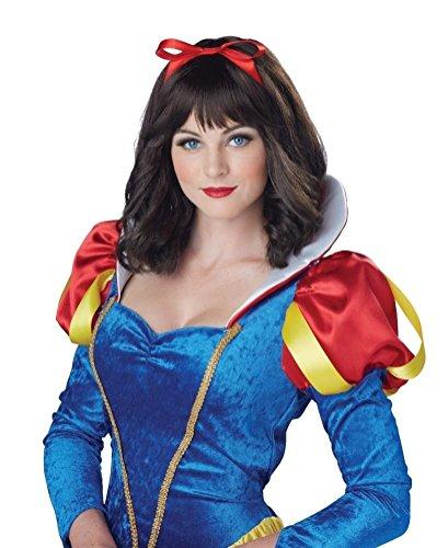 [POPLife Snow White Adult Costume Wig] (Witch Wig Stripes)