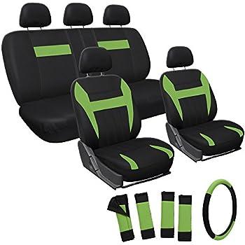Amazoncom FH Group Universal Fit Full Set Flat Cloth Fabric Car