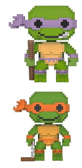 Funko POP! Teenage Mutant Ninja Turtles: 8-Bit Donatello + 8 ...