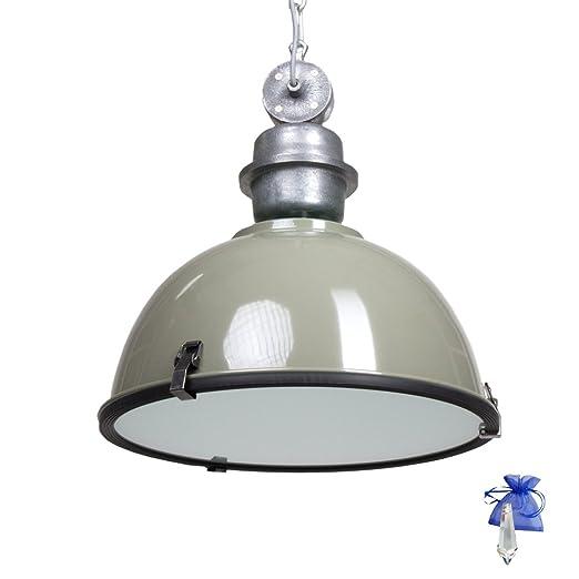 Techo Verde Y Gris en diseño de lámpara Industrial Vintage ...