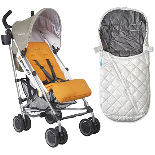 UPPAbaby G-Luxe Stroller With BabyGanoosh in Pascal & Rain Shield (ANI)