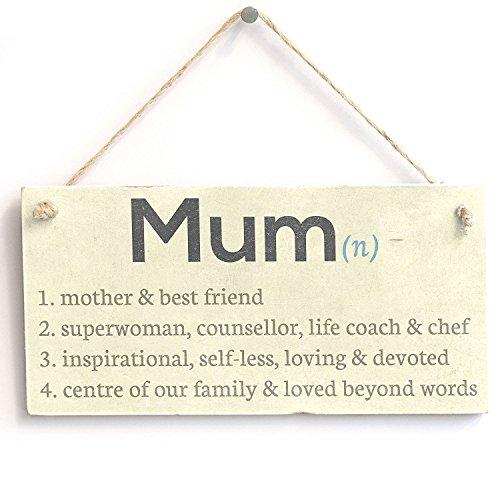 Meijiafei 'Mum Dictionary Definition Mother & Best Friend.' Sign - Vintage PVC Door Sign/Plaque