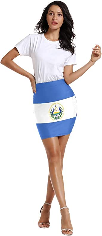 Amazon.com: FANTAZIO El Salvador Flag Women's Above The ...