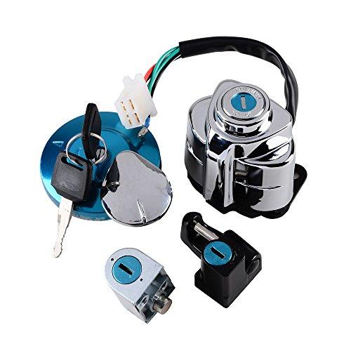 Set Ignition Gas Cap Steering Locks + Keys Fit Honda Shadow VLX 600 VT600 VT400 VT750 Steed VLX400 ()
