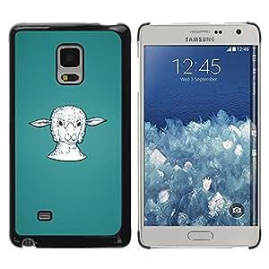 Impact Case Cover with Art Pattern Designs FOR Samsung Galaxy Mega 5.8 Lamb Head Portrait White Farming Animal Betty shop