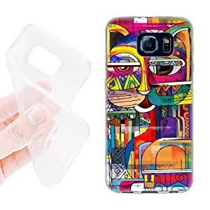 Head Case Designs Abyssinian Aztec Cat Soft Gel Back Case Cover for Samsung Galaxy S6 G920, Galaxy S6 Duos