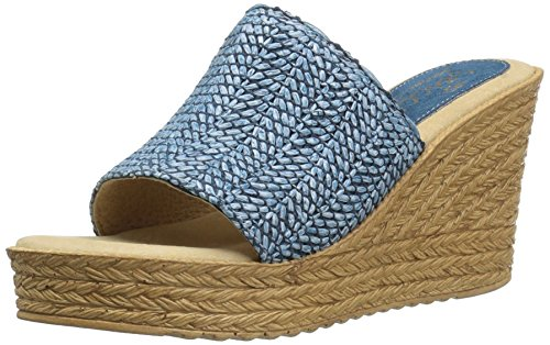 Sbicca Women's Mary Wedge Sandal Blue G7NU3L