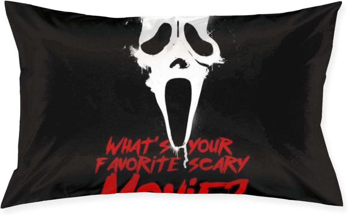 Couch Cushions Scream Favorite Scary Movie Acogedor 40X60Cm Habitación De Cama Estándar Anime Único Cremallera Oculta Linda Funda De Almohada Decorativa Regalo Funda De Almohada P