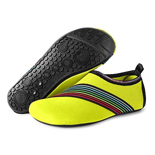 JIASUQI Damen und Herren Sommer Outdoor Wasserschuhe Aqua Socken für Beach Swim Surf Yoga Übung Bevel / Grün