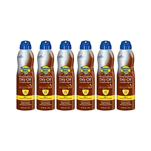 - Banana Boat UltraMist Deep Tanning Dry Oil Continuous Clear Spray SPF 4 Sunscreen, 6 oz (6 pack)