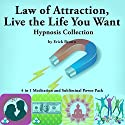 Law of Attraction, Live the Life You Want Hypnosis Collection: 4 in 1 Meditation and Subliminal Power Pack Speech by Erick Brown Narrated by Erick Brown